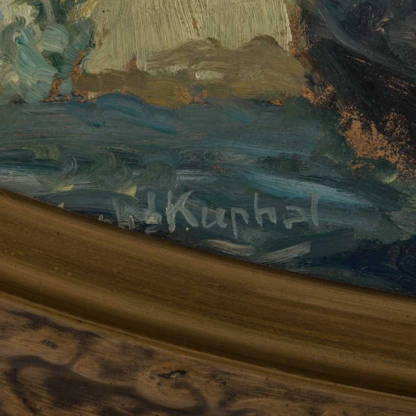 """KUPHAL, WALTER (1890-1937), """"Blumenbouquet mit Pfingstrosen und Schneeballen in Jugendstilvase"""", - Foto 2"""