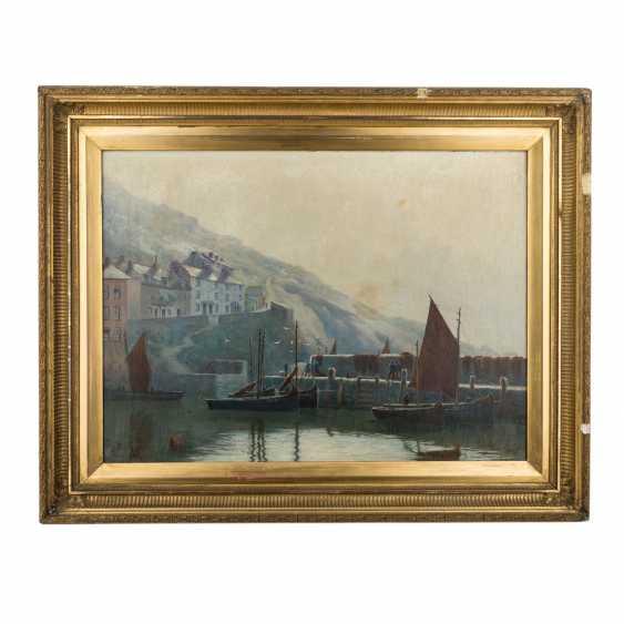 "RIPPER, CHAS (painter 19./20. Century), ""fishermen in the port"", - photo 2"
