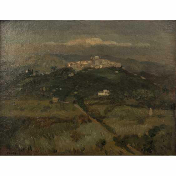 "FAURE, AMANDUS (Hamburg 1874-1931 Stuttgart), ""Italienische Hügellandschaft"", - Foto 1"