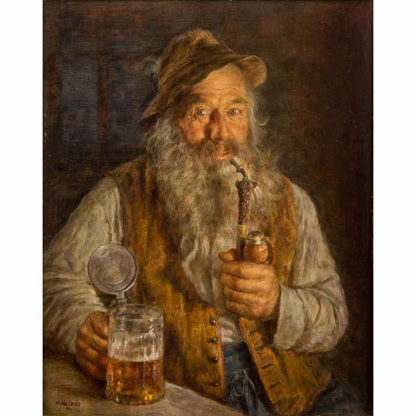 "MELKUS, HRVOJ (1924-2007), ""Jäger mit Pfeife und Bierseidel in Stubeninterieur"", - Foto 1"