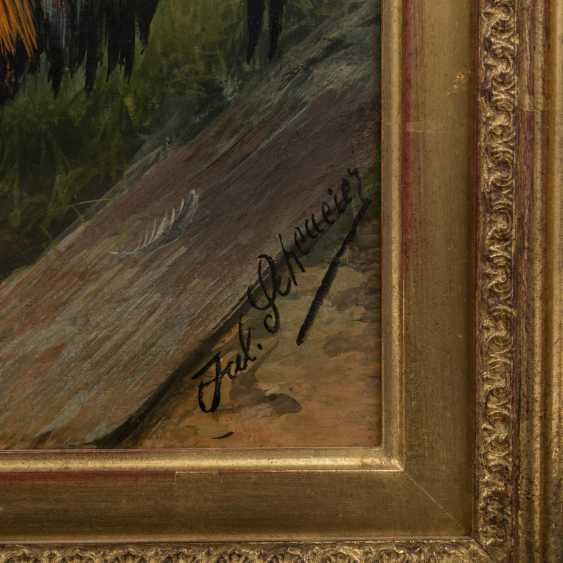 """SCHEUERER, JULIUS (München 1859-1913 Planegg), """"Federvieh vor dem Stall"""", - Foto 3"""