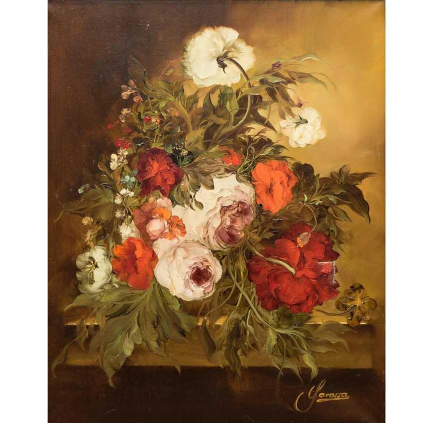 """GAROSSA, HEINRICH (1902-?), """"Bouquet floral de Roses et de Pivoines"""", - photo 1"""