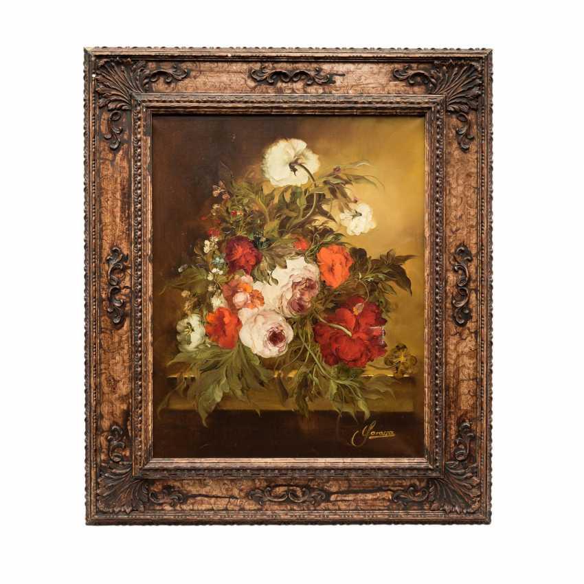 """GAROSSA, HEINRICH (1902-?), """"Bouquet floral de Roses et de Pivoines"""", - photo 2"""