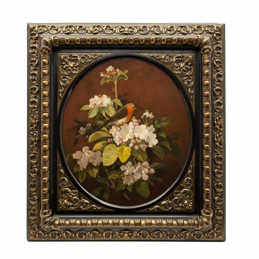 """HAPP, SEPP, zugeschrieben (1912-?), """"Rotkelchen auf Blütenzweig"""", - Foto 1"""