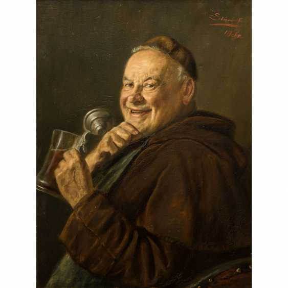 "STIERHOF, ERNST (1918-?), ""Laughing monk with beer mug"", - photo 1"