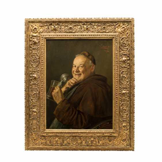 "STIERHOF, ERNST (1918-?), ""Laughing monk with beer mug"", - photo 2"