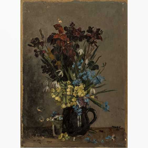 "FAURE, AMANDUS (Hamburg 1874-1931 Stuttgart), ""spring bouquets of flowers in jug and glass"", - photo 1"