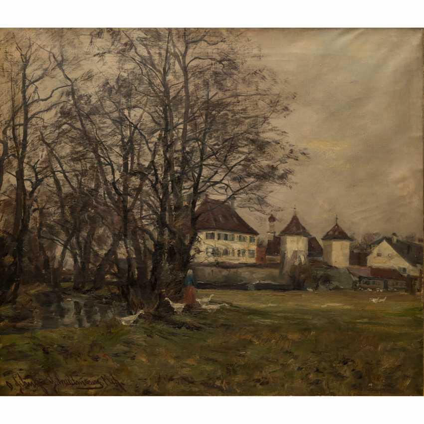 """SCHULZ-STRADTMANN, OTTO (1892 -1960), """"Schloss Blutenburg"""", - Foto 1"""