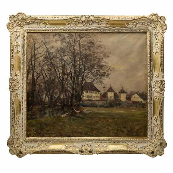 """SCHULZ-STRADTMANN, OTTO (1892 -1960), """"Schloss Blutenburg"""", - Foto 2"""