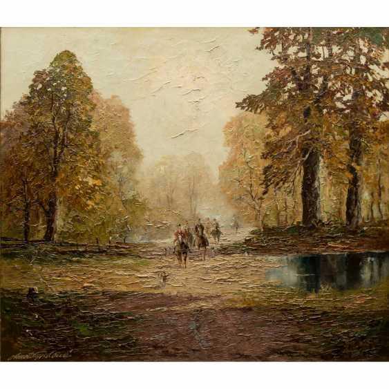 "GRABONÉ, Georg (auch: ARNOLD-GRABONÉ; 1896-1982), ""Herbst in Bernried"", - Foto 1"