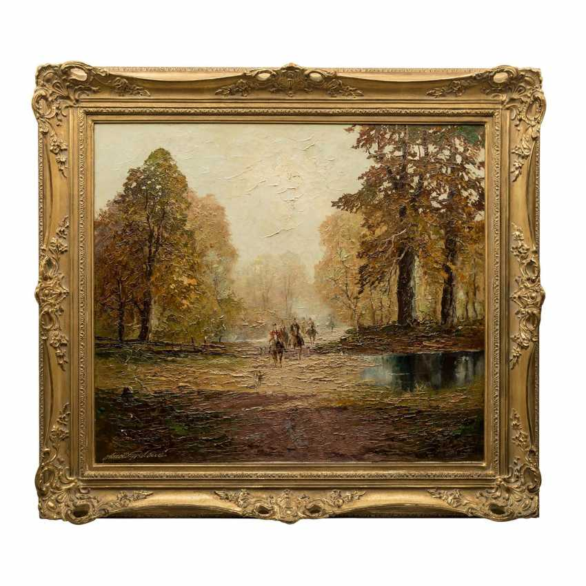 "GRABONÉ, Georg (auch: ARNOLD-GRABONÉ; 1896-1982), ""Herbst in Bernried"", - Foto 2"