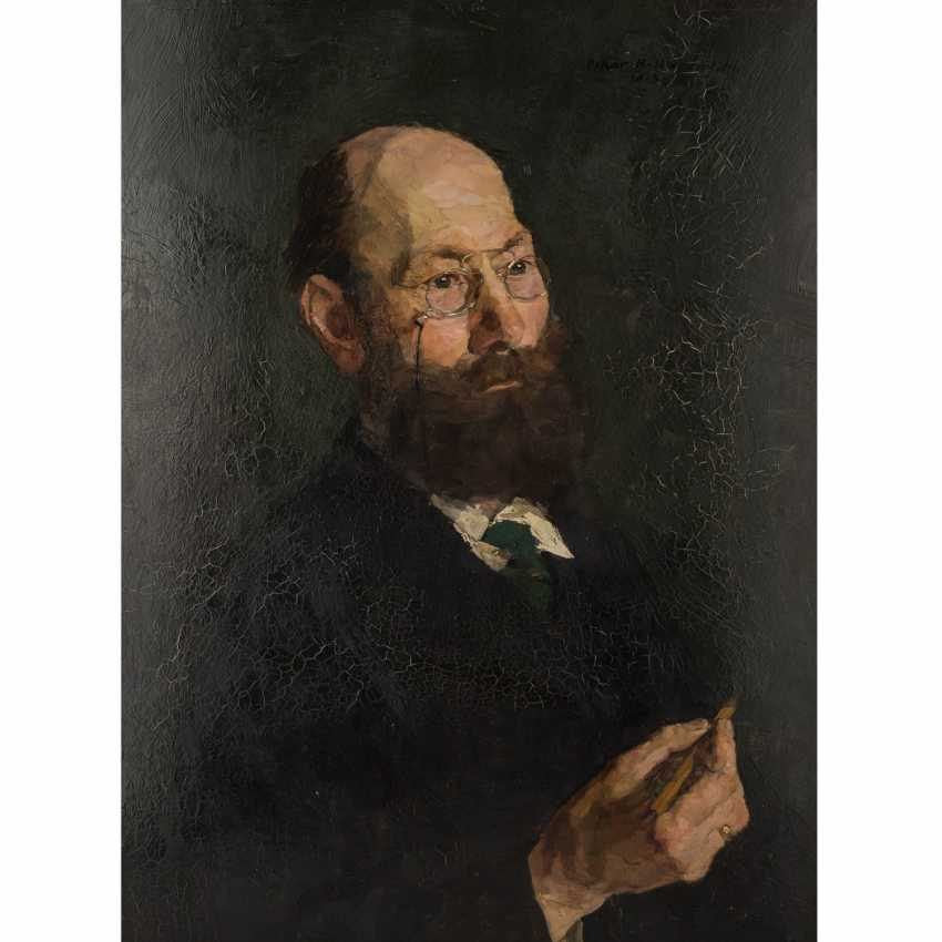 "HAGEMANN, OSKAR H. (1888-1985), ""Portrait of the painter Prof. Michael Koch"", - photo 1"