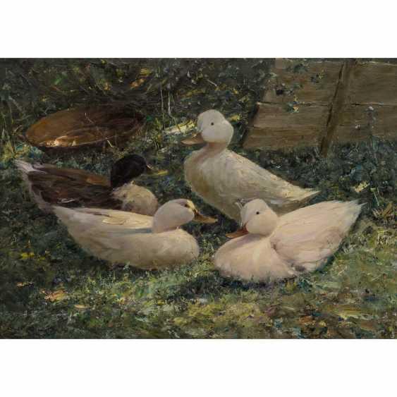 """KLARL, JOSEPH (1909-1986), """"Quatre Canards dans le pré fleuri"""", - photo 1"""