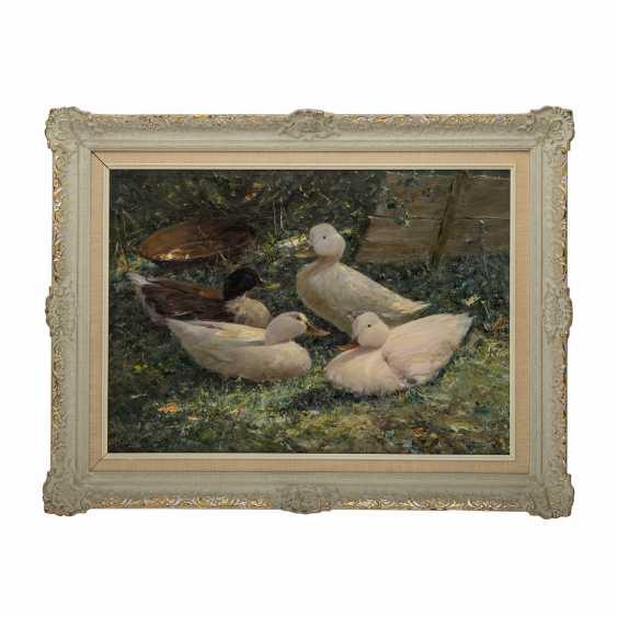 """KLARL, JOSEPH (1909-1986), """"Four ducks in the flowering Meadow"""", - photo 2"""