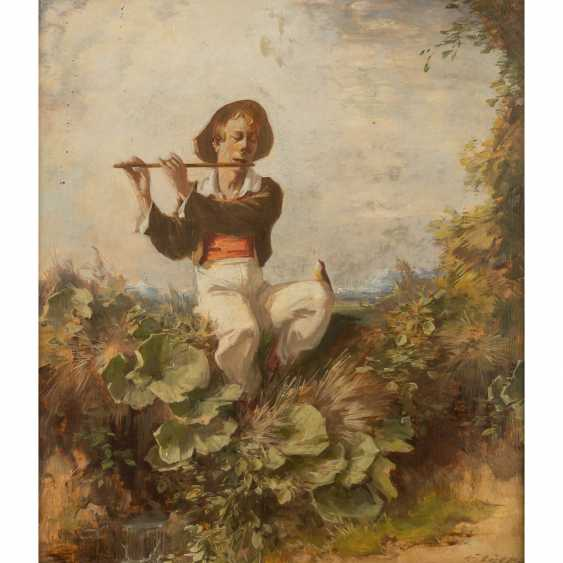 "EYER, GUSTAV (1887-1946), ""flute player with a singing bird"", - photo 1"