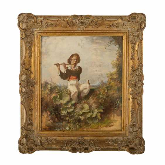 "EYER, GUSTAV (1887-1946), ""flute player with a singing bird"", - photo 2"