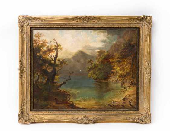 """HEINLEIN, HEINRICH (Weilburg/Nassau 1803-1885 Munich), """"mountain Lake with wooded Shores"""", - photo 2"""