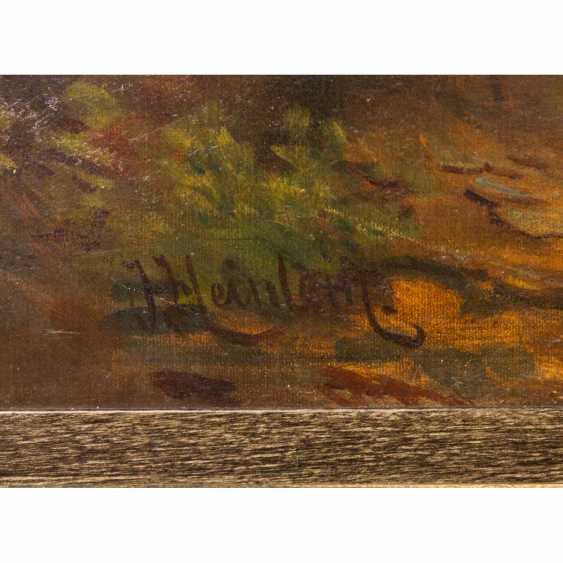 """HEINLEIN, HEINRICH (Weilburg/Nassau 1803-1885 Munich), """"mountain Lake with wooded Shores"""", - photo 3"""