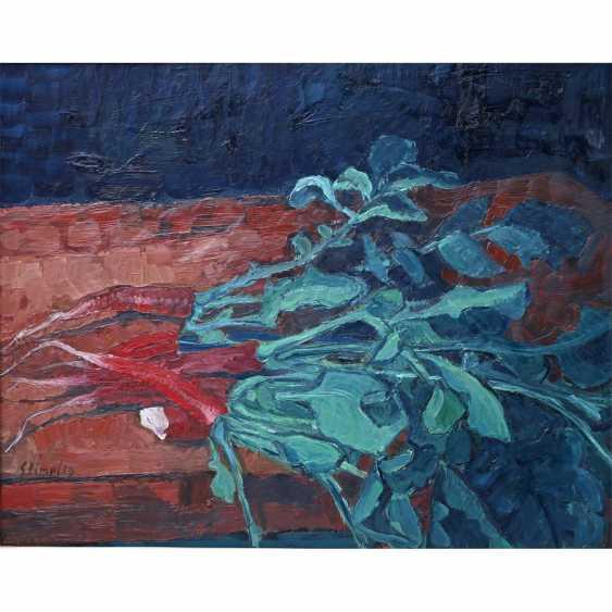 "STIMPFIG, Jürgen (geb. 1955 in Heidenheim, Germany), ""still life with red Radishes"", - photo 1"