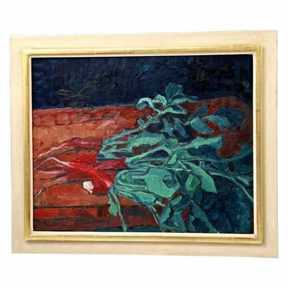 "STIMPFIG, Jürgen (geb. 1955 in Heidenheim, Germany), ""still life with red Radishes"", - photo 2"
