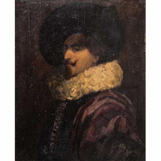 """TIEL, HANS (19./20. Century), """"Portrait of a noble man with a millstone collar"""", - photo 1"""