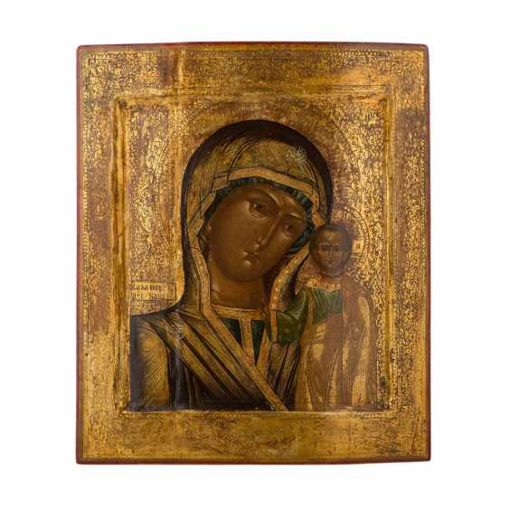 "ICON ""mother of God of Kazan"", the Central-North of Russia, around 1900, - photo 1"