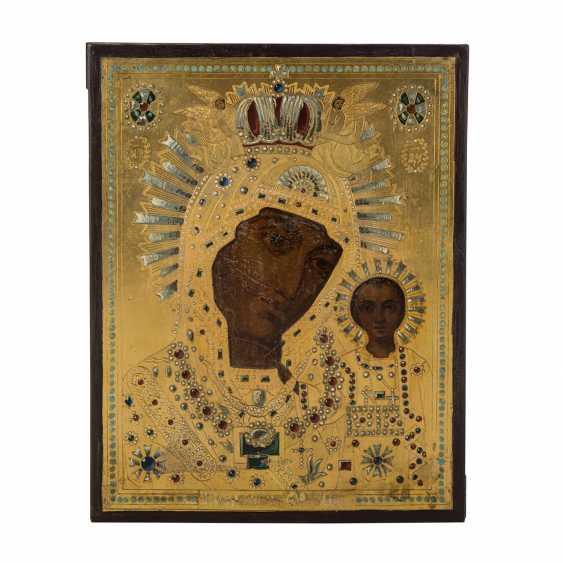 "ICON ""mother of God of Kazan"", Russia, Petersburg, 1900, - photo 1"