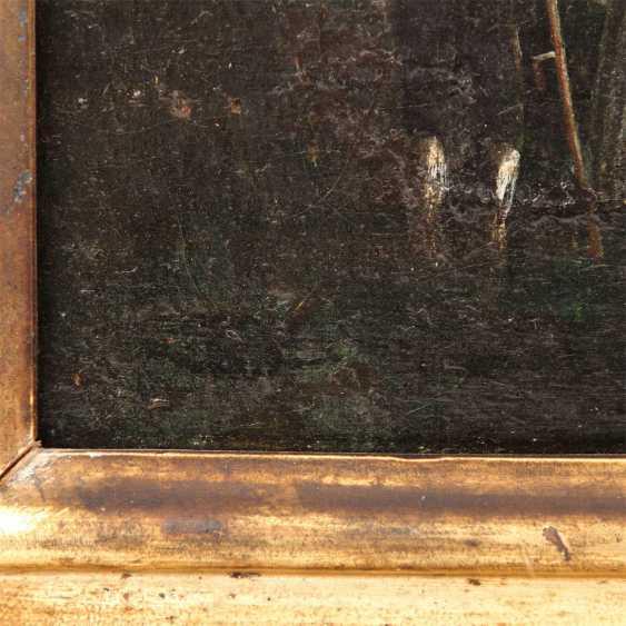 """MALER der 1. Hälfte des 19 Jahrhundert, """"Oberbalzheim an der Iller, Blick auf die Kirche"""", - Foto 3"""