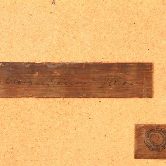 """MALER der 1. Hälfte des 19 Jahrhundert, """"Oberbalzheim an der Iller, Blick auf die Kirche"""", - Foto 5"""