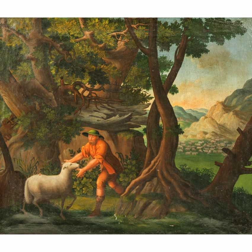 "PAINTER of the 18th century./19. Century, ""The lost sheep"", - photo 1"