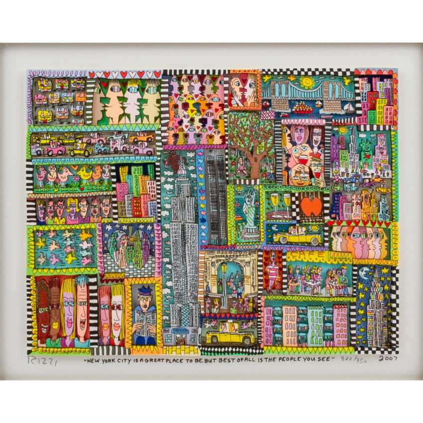 """RIZZI, JAMES (1950-2011), """"New York City is a great place to be..."""" - photo 1"""