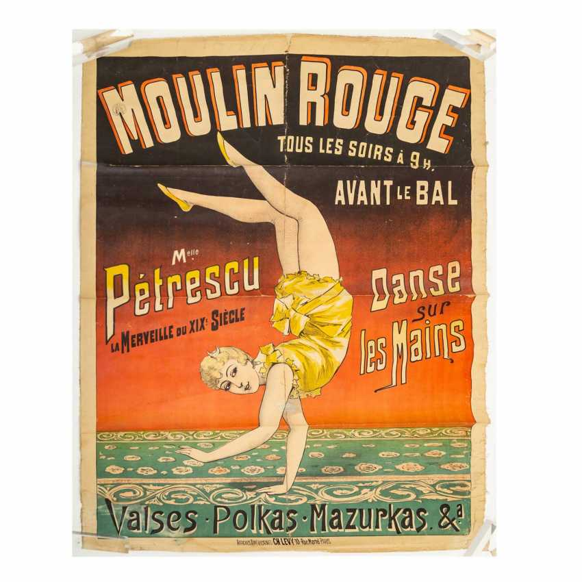 "Plakat ""MOULIN ROUGE every night at 9 o'clock Before the Prom..."", um 1890-1900, - photo 1"