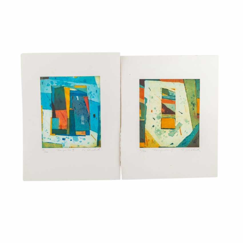 SCHÄDRICH, ECKHART (geb. 1950), 2 abstrakte Kompositionen, - Foto 1