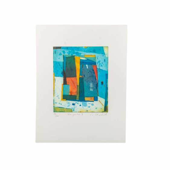 SCHÄDRICH, ECKHART (geb. 1950), 2 abstrakte Kompositionen, - Foto 2