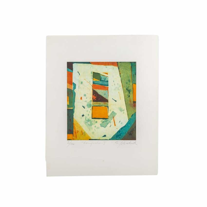 SCHÄDRICH, ECKHART (geb. 1950), 2 abstrakte Kompositionen, - Foto 3