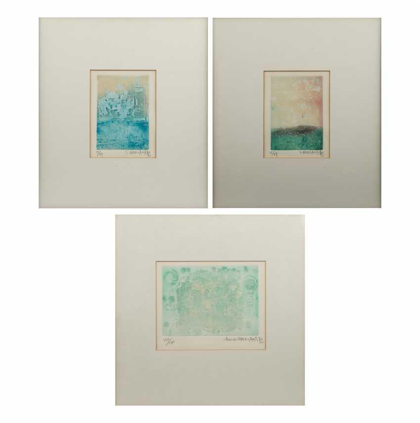 HASEGAWA, SHOICHI (geb.1929 Yaizu, Japan), Drei Graphiken, - Foto 1