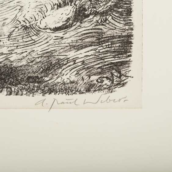 """WEBER, ANDREAS PAUL (1883/93-1980), """"We are over the hill"""", - photo 2"""