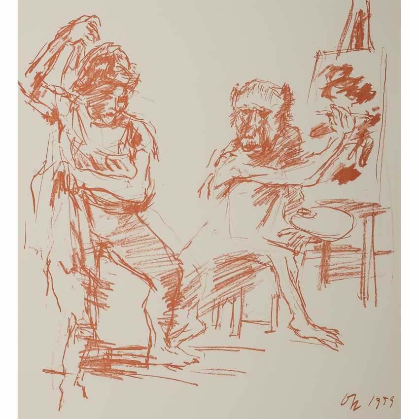 "KOKOSCHKA, OSKAR (1886-1980), ""The Action Painter"", - Foto 1"