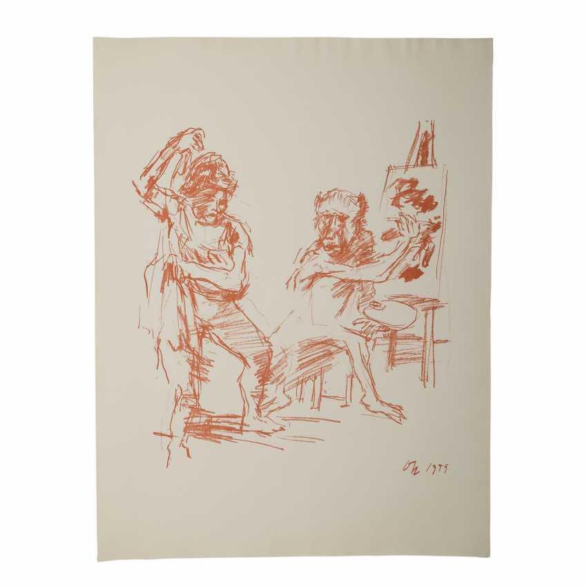"""KOKOSCHKA, OSKAR (1886-1980), """"The Action Painter"""", - photo 2"""