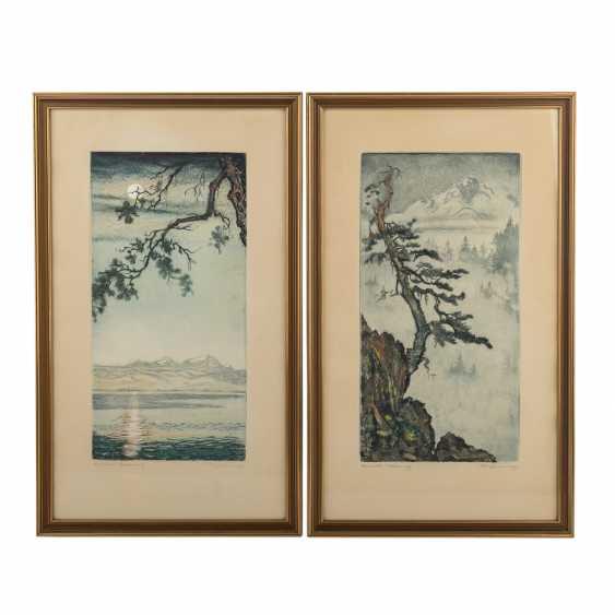 BRÜNING, MAX (1887-1968), 2 landscapes, - photo 1