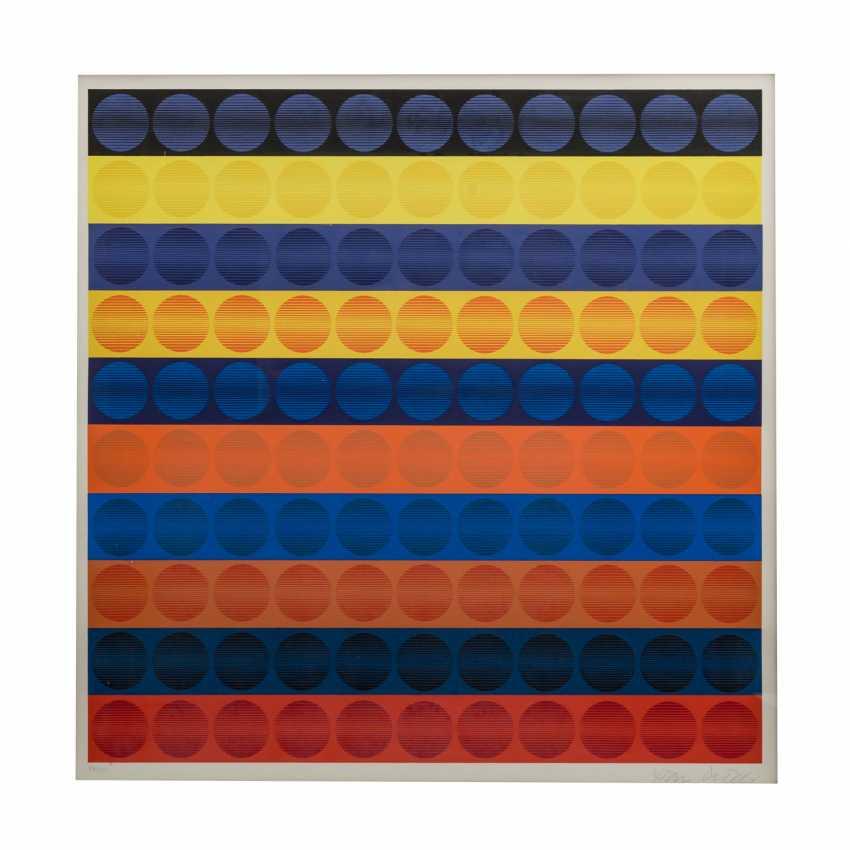 """PICELJ, IVAN (auch Yvan Picely, 1924-2011), """"Geometrische Farbkomposition der Op-Art"""", - photo 1"""