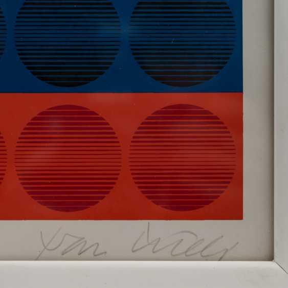 """PICELJ, IVAN (auch Yvan Picely, 1924-2011), """"Geometrische Farbkomposition der Op-Art"""", - photo 3"""