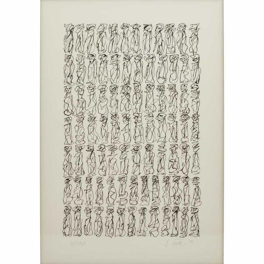 TECK, G. ? (undeutlich signiert, Künstler/in 20./21. Jahrhundert), Paar kalligraphische Kompositionen, - Foto 3