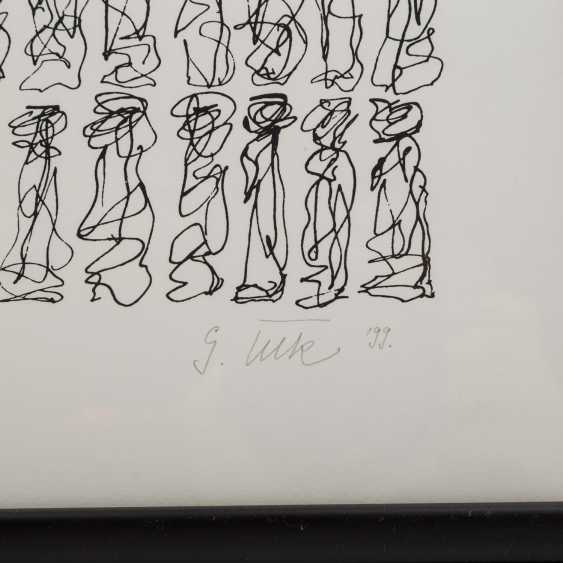 TECK, G. ? (undeutlich signiert, Künstler/in 20./21. Jahrhundert), Paar kalligraphische Kompositionen, - Foto 5