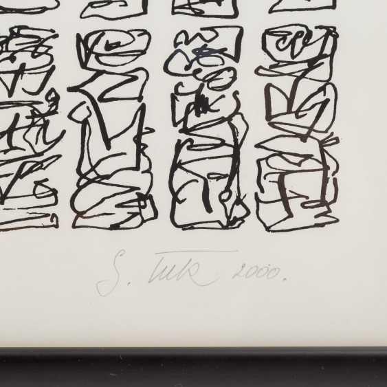 TECK, G. ? (undeutlich signiert, Künstler/in 20./21. Jahrhundert), Paar kalligraphische Kompositionen, - Foto 6