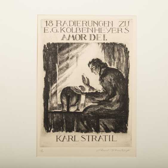 "STRATIL, KARL (1894-1963), ""18 engravings to E. G. Kolbenheyers AMOR DEI"", - photo 2"