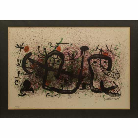 "MIRO, Joan (1893-1983), ""figurative composition"", - photo 1"