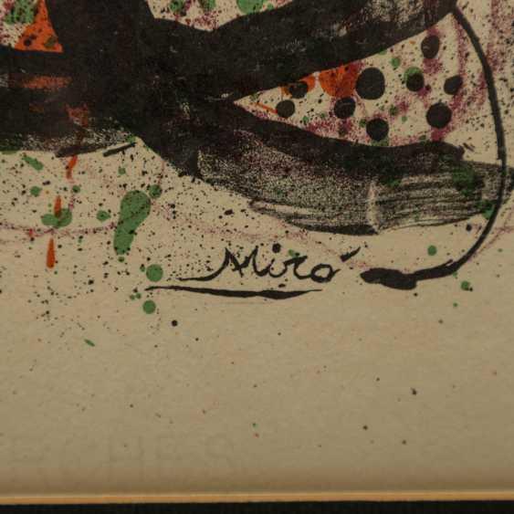 "MIRO, Joan (1893-1983), ""figurative composition"", - photo 4"