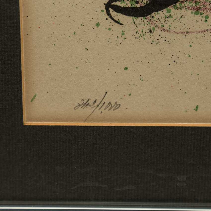 "MIRO, Joan (1893-1983), ""figurative composition"", - photo 5"
