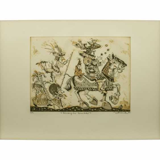 DITTRICH, Simon (geb. 1940), 3 colour etchings, - photo 2